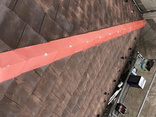 屋根の棟の釘の飛び出し注意