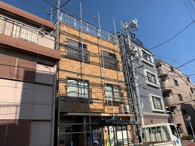 杉並区高円寺にて足場工事