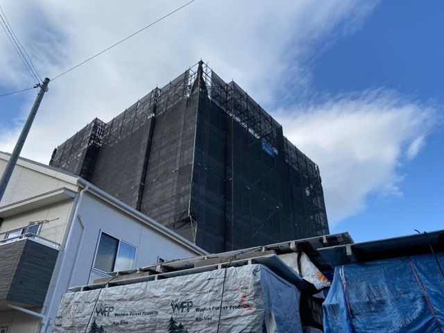 横浜市南区にて大規模仮設工事完了