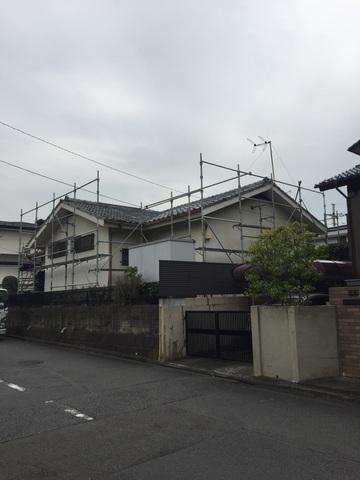 川崎市麻生区にて足場工事