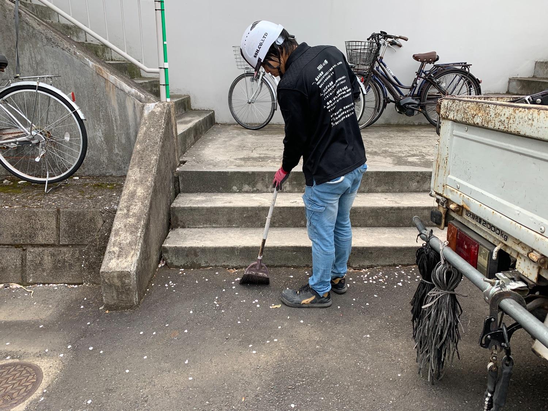 神奈川県横浜市磯子区にて仮設工事