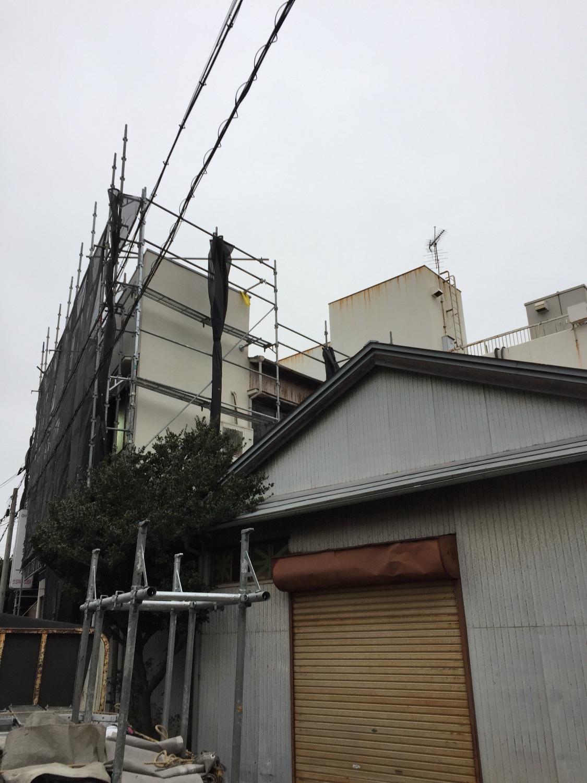 東京都大田区にて仮設工事