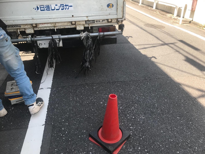 東京都多摩市中沢にて仮設工事