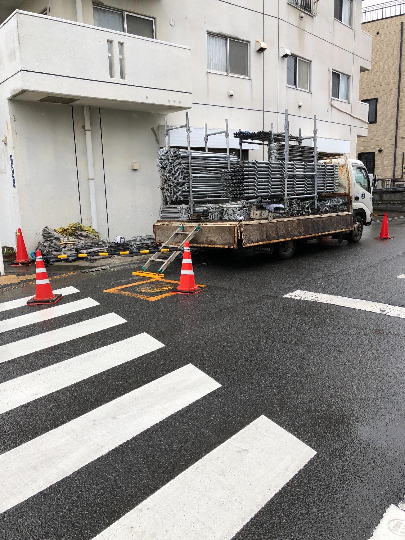 神奈川県平塚市千石河岸にて仮設工事