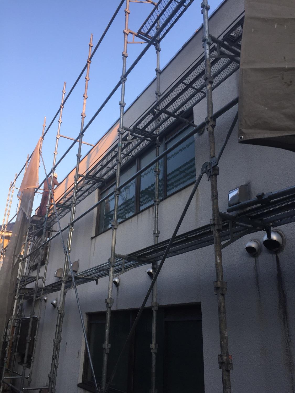 東京都練馬区中村北にて仮設工事