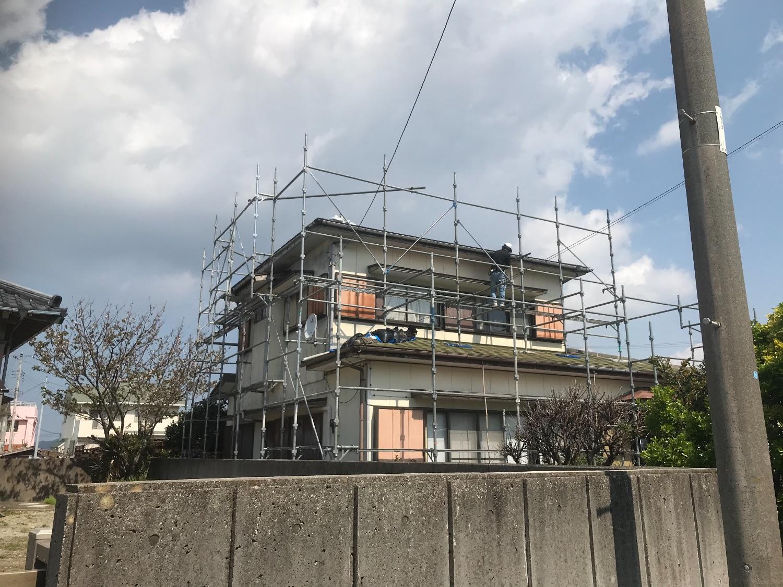 館山市相浜にて仮設工事