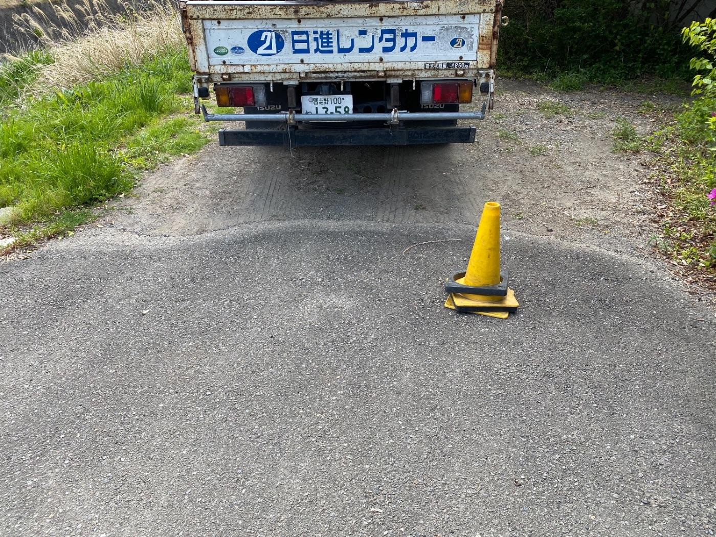 館山市広瀬にて仮設工事
