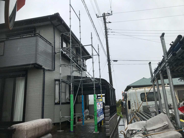 館山市上野原にて仮設工事