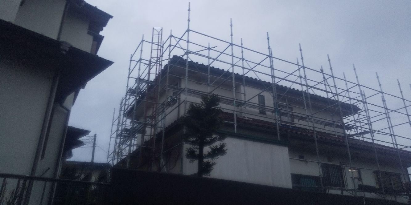 港南区日限山にて仮設工事