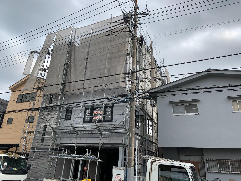 小平市上水南町にて仮設工事