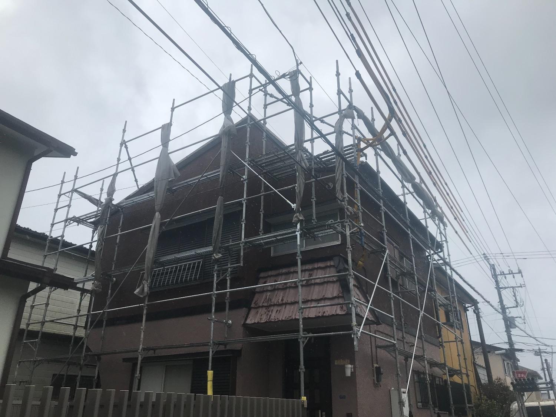 木更津市幸町にて仮設工事