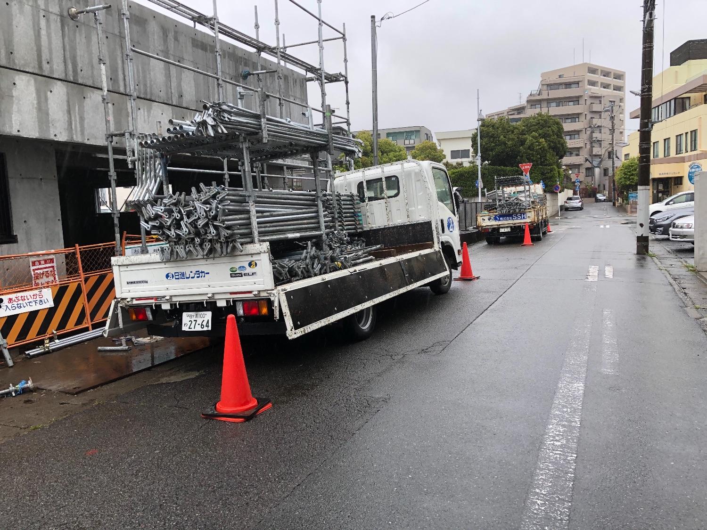 平塚市代官にて仮設工事