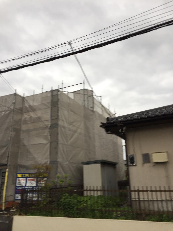 埼玉県越谷市東町にて仮設工事