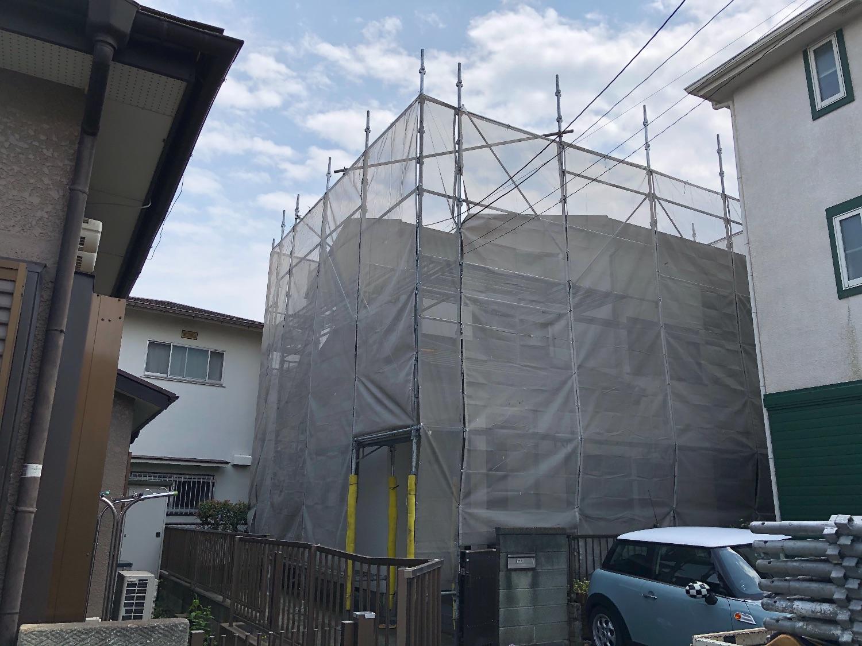 藤沢亀井野にて仮設工事
