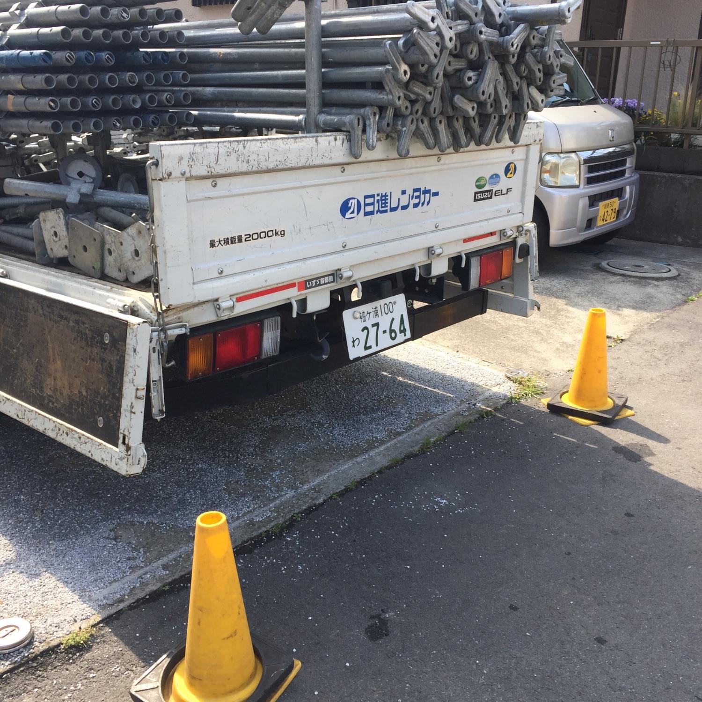 茅ヶ崎市南湖にて仮設工事