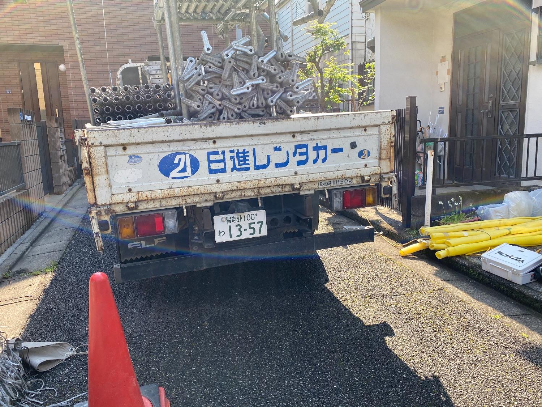 板橋区徳丸にて仮設工事