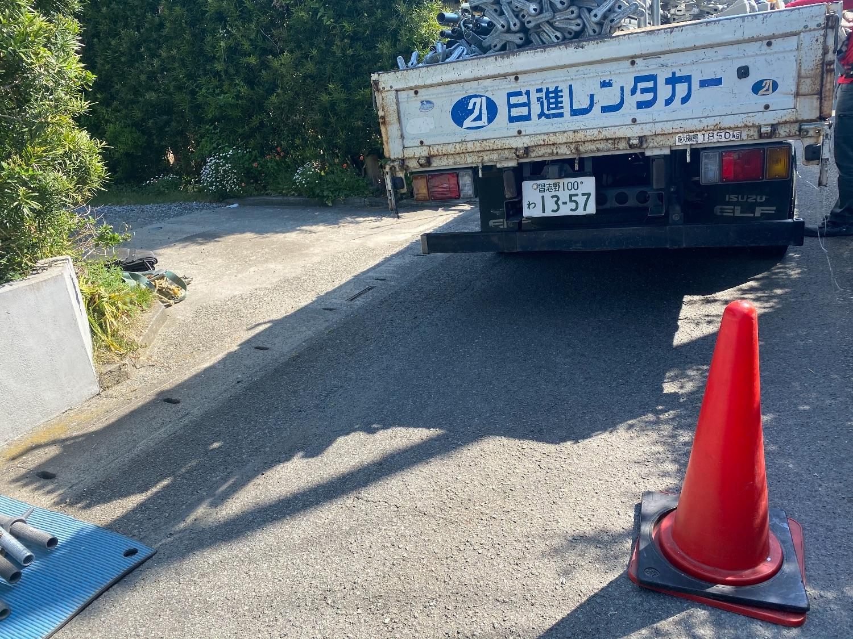 南房総市久枝にて仮設工事