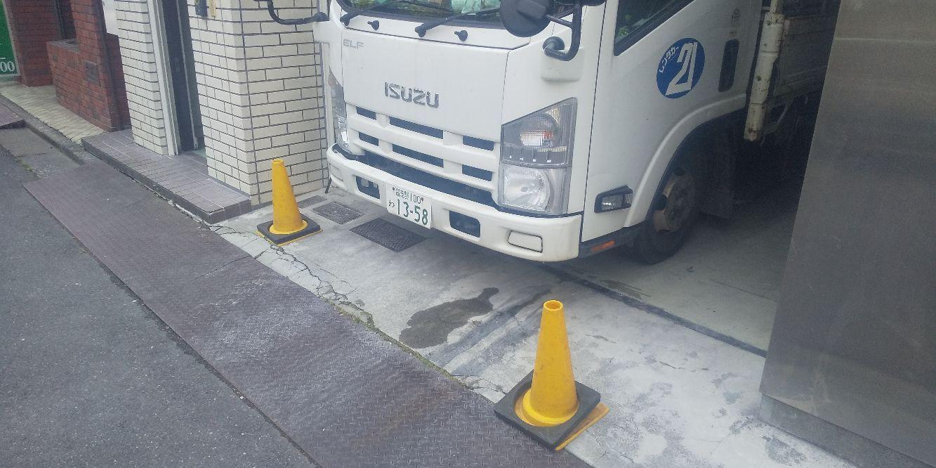 神田佐久間町にて仮設工事