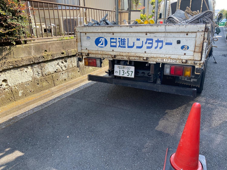磯子区杉田にて仮設工事