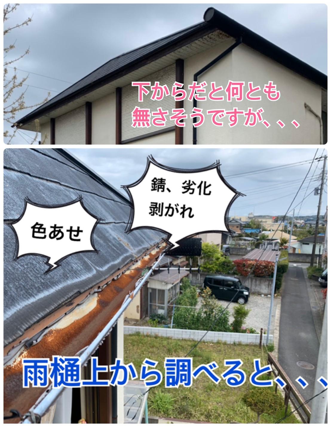 屋根より高く!ドローン調査