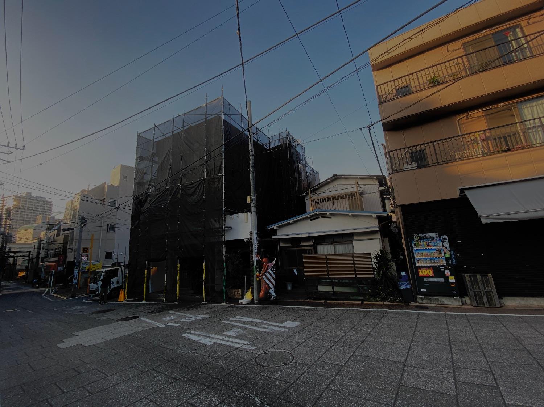 中区元町にて仮設工事