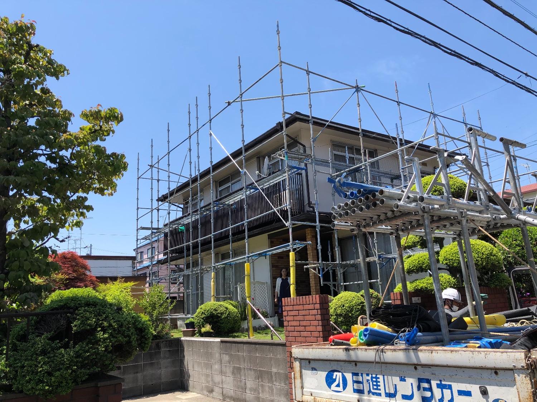 港北区新羽町にて仮設工事