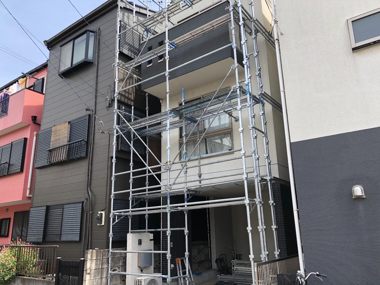 幸区遠藤町にて仮設工事