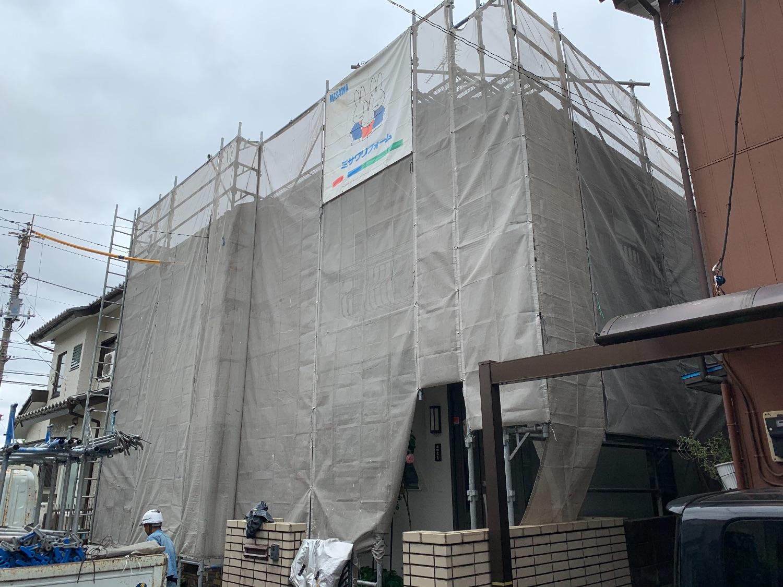 日野市日野台にて仮設工事