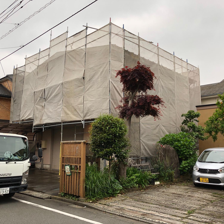 神奈川県相模原市中央区星ヶ丘にて仮設工事