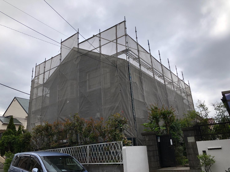戸塚区上倉田町にて仮設工事