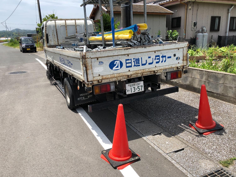 千倉町瀬戸にて仮設工事