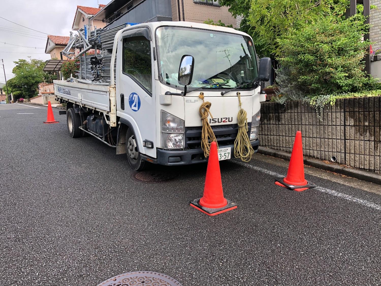 横浜市緑区長津田町みなみ台にて仮設工事