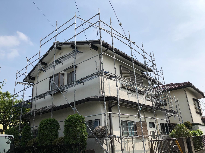 町田市金森にて仮設工事