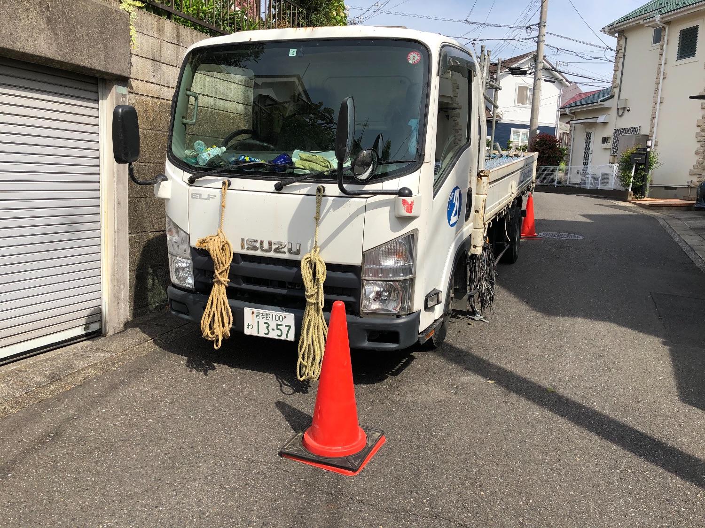 泉区岡津町にて仮設工事