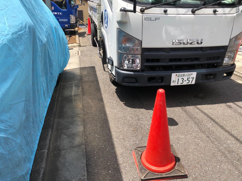 大田区東馬込にて仮設工事