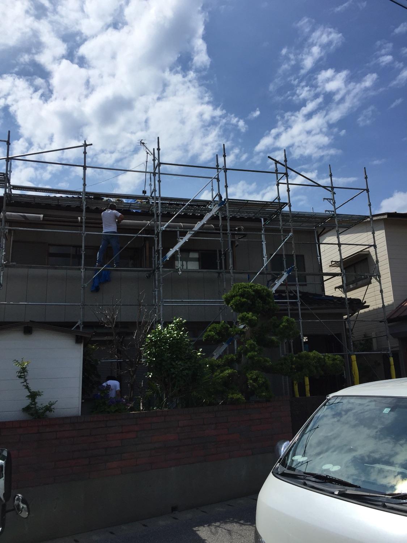 市原市五井西にて仮設工事完了です。