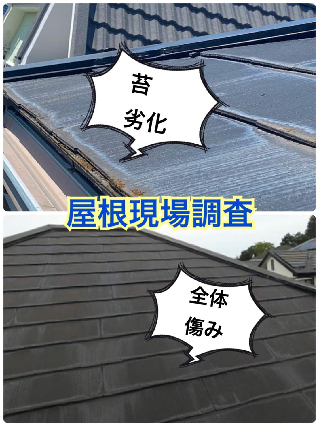 スレート屋根・現場調査🔎