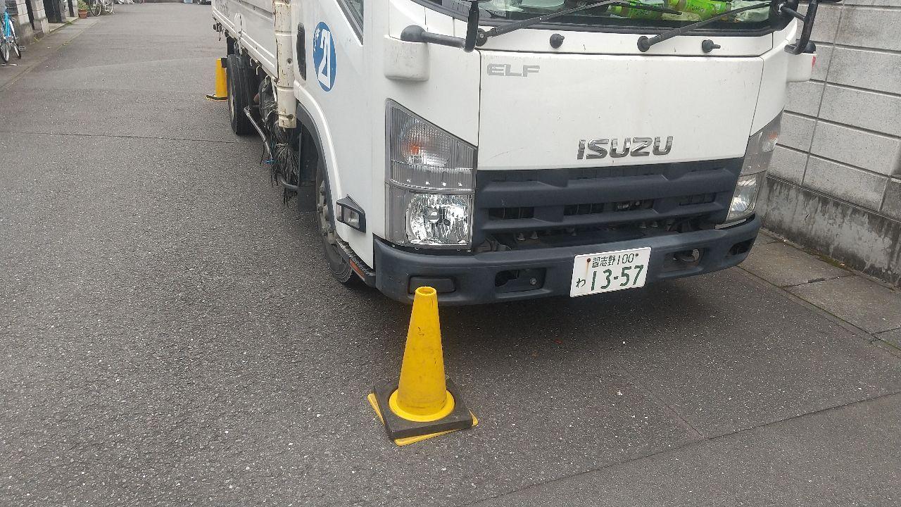 埼玉県志木市上宗岡にて仮設工事