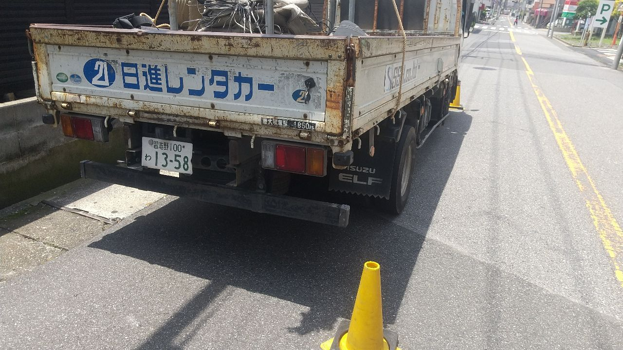 中央区南丁にて仮設工事