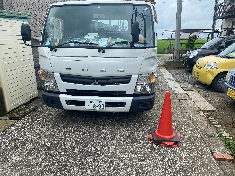 袖ケ浦市横田にて仮設工事