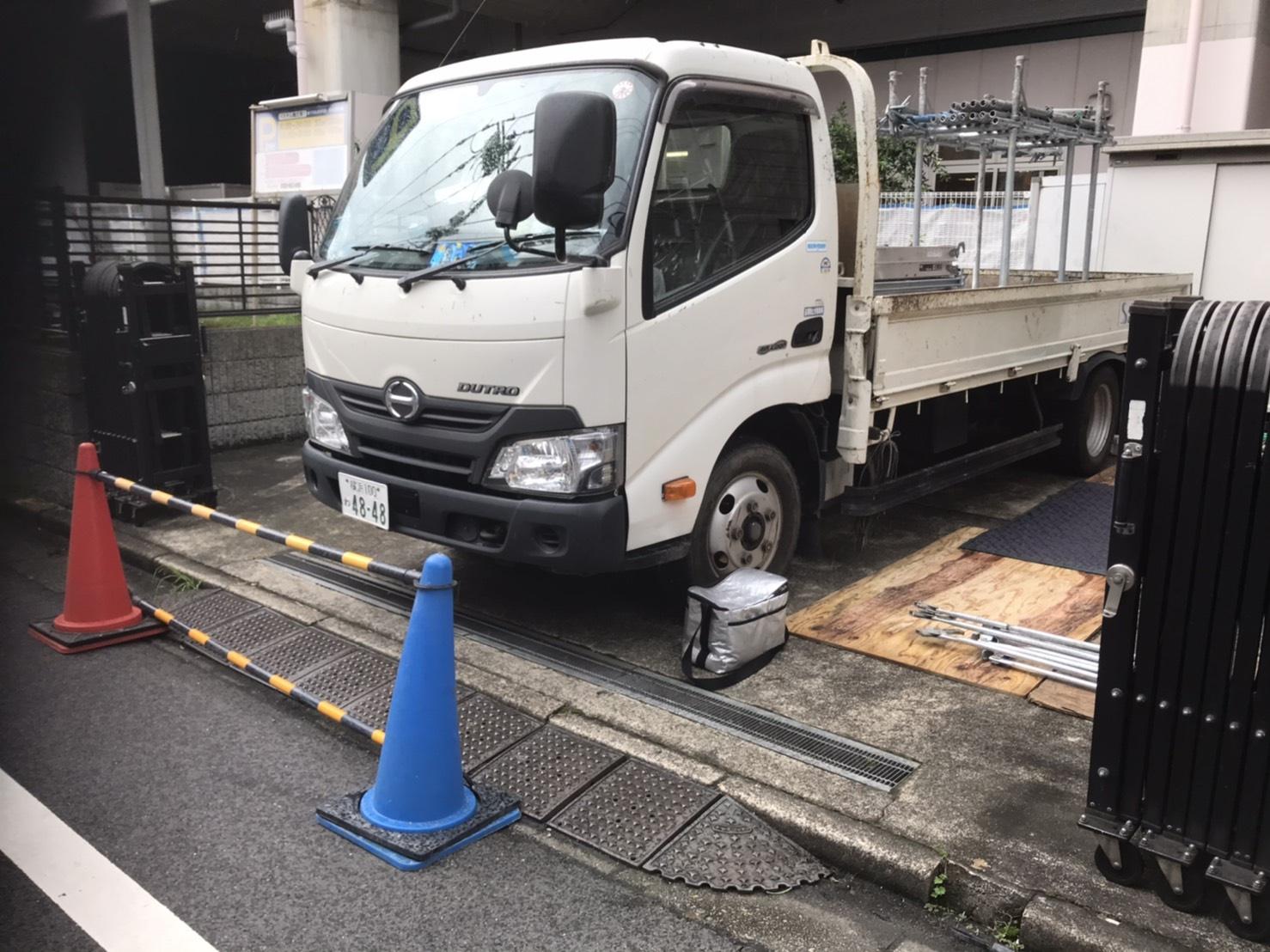 世田谷区梅丘にて仮設工事