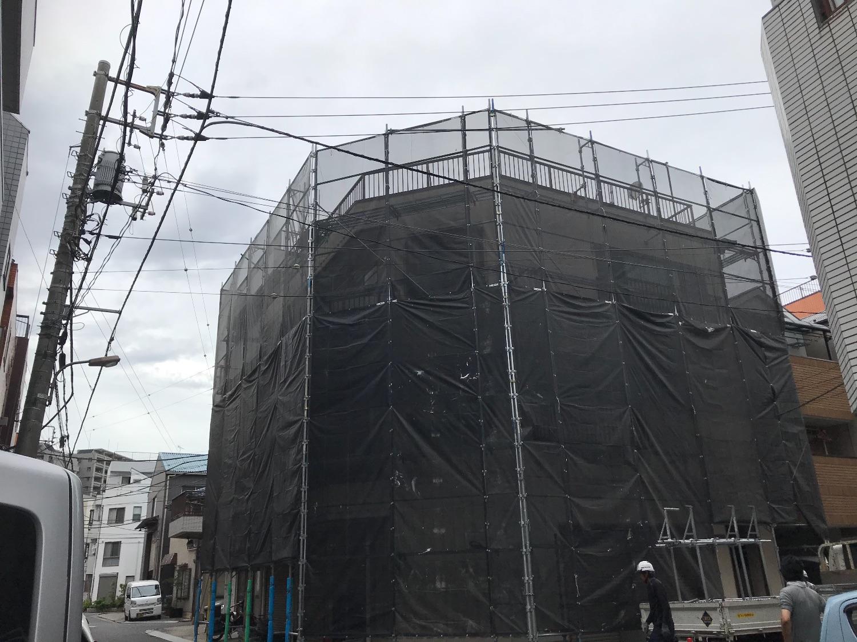 江東区塩浜にて仮設工事