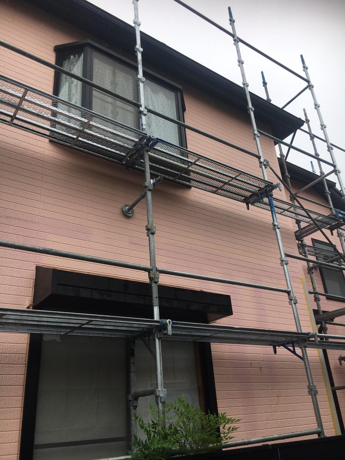 南区大野台にて仮設工事