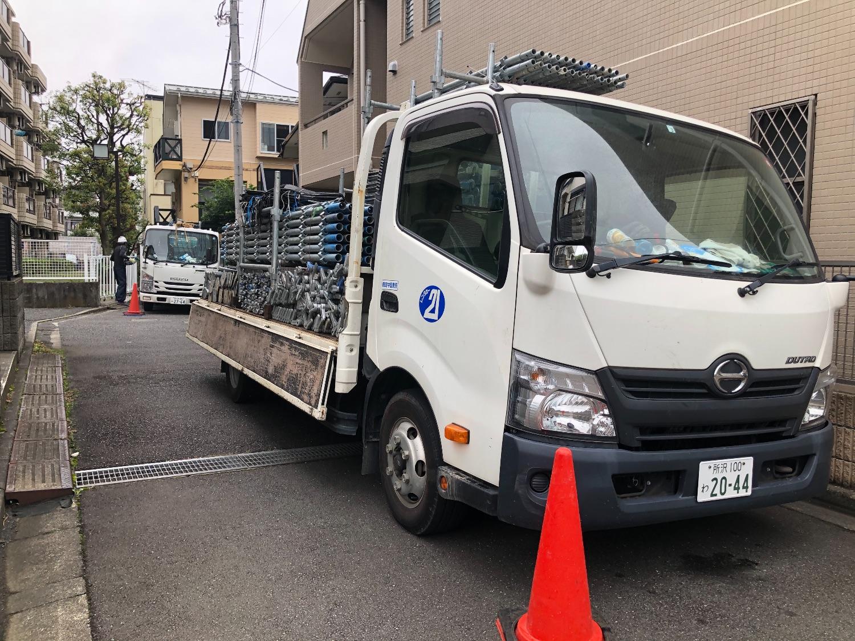 大田区西蒲田にて仮設工事