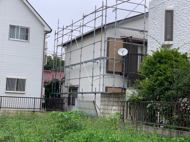中野区本町にて仮設工事
