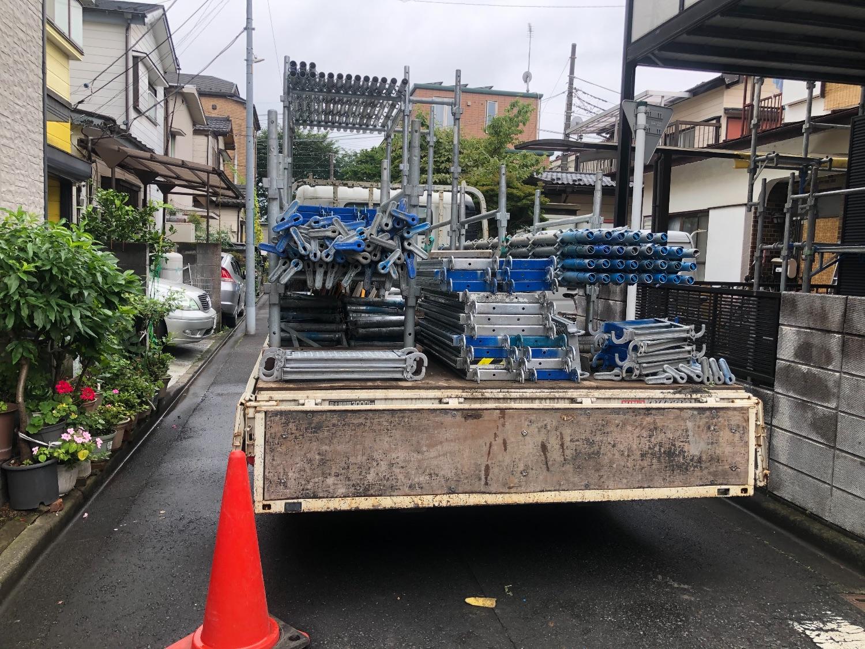 相模原市南区大野台にて仮設工事