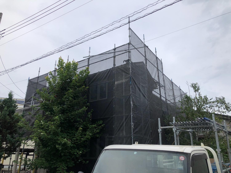 埼玉県鴻巣市愛の町にて仮設工事