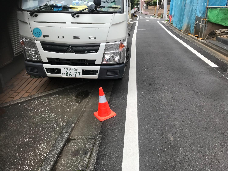 大田区南久ヶ原にて仮設工事