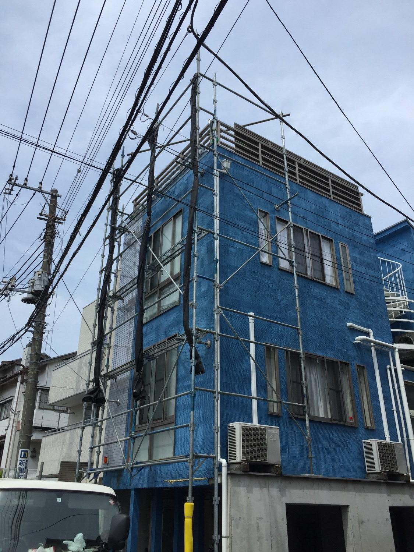 目黒区中目黒にて仮設工事
