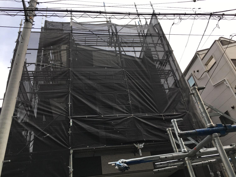 大田区萩中にて仮設工事
